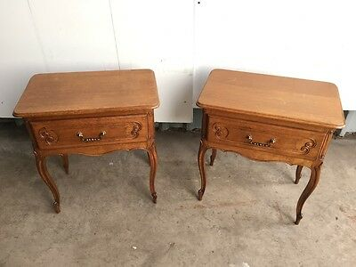 Pair of low french bedsides