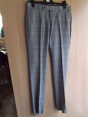 """from ex fancy dress hire shop ..male prince wales check trousers UK size 34"""" w"""