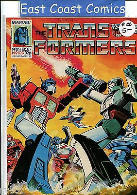 TRANSFORMERS #100 - MARVEL UK WEEKLY COMIC 1980's