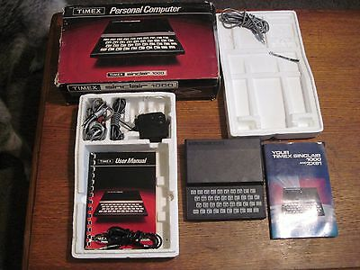 Timex Sinclair 1000 Personal Computer Vintage 1982 w/Chords User Manual Untested