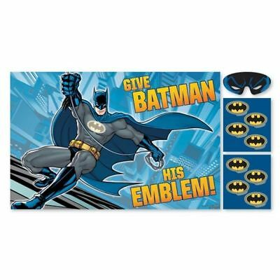Batman Birthday Party Game Pin the Mask - 8 Player DC Superhero Party Games