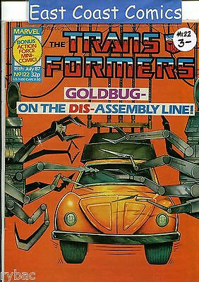 TRANSFORMERS #122 - MARVEL UK WEEKLY COMIC 1980's