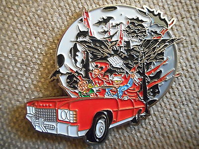 """RARE """"Bat Country"""" Pin FREE SHIPPING (Hunter S.Thompson Fear & Loathing Pins)"""