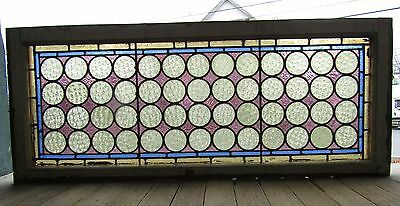 ANTIQUE STAINED GLASS WINDOW CIRCLE PATTERN One of a PR