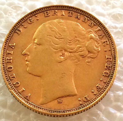 1887 Jubilee Head Full  Sovereign  Victoria  good condition  #2578