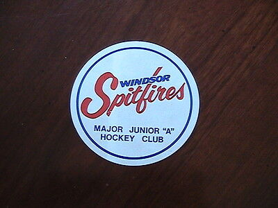 Windsor Spitfires Vintage Hockey Sticker