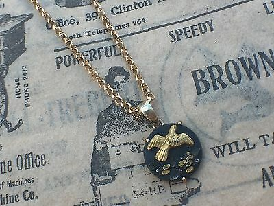 ** Sale** Stunning Antique Victorian 9Ct Gold Japanese Shakudo Charm Pendant