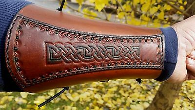 NORDIC/VIKING/ Archery Bracer/ Arm Guard / Traditional Archery/ HANDMADE/ SALE !