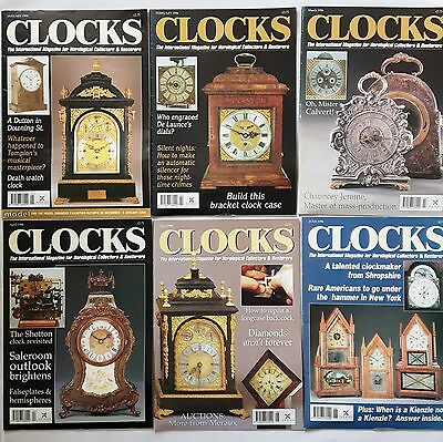 CLOCKS MAGAZINES -  1996 - Twelve copies - Jan to Dec.