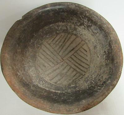 Authentic Artifact dated 1200 A.D. MAYAN TRI-FOOTED RATTLE BOWL W/  C.O.A.