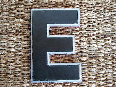 "Vintage/Antique Cast Metal Architectural Letter ""E"" Wagner Sign Service Co."