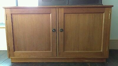 Vintage Satinwood School Cabinet Storage Utility Cupboard