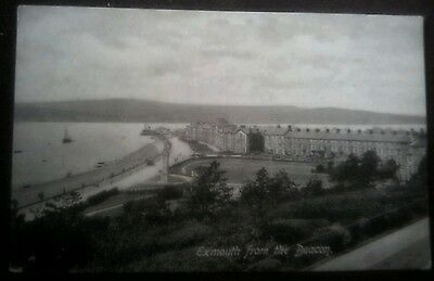 Vintage/Old Postcard,,,,,,,, Exmouth from the Beacon