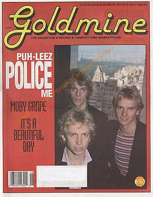 GOLDMINE Record  Magazine-April 30 1993-The Police, Moby Grape,VG+ Ships Free!
