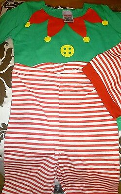 Avon Elf Pyjamas  With Hat 6-12 Months For Christmas Present