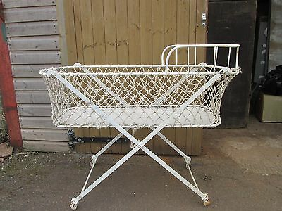 Antique Victorian Bassinet Baby Moses Cot Crib Bed - PROP Toy or Laundry Basket
