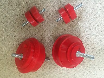 PAIR BMW E46 Engine & Gearbox Mountings RED Poly