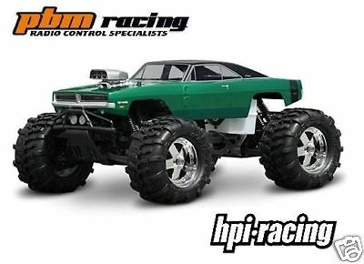 HPI Racing 1969 Dodge Charger Clear 1/8 Truck Body to fit Savage / TMaxx - 7184
