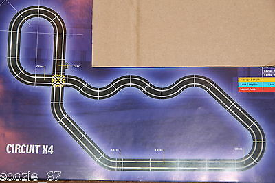 Scalextric Sport Huge 'x4' Track Set - Grade A (Inc. Brand New Curves)