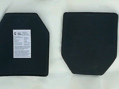 2X Ballistic Body Armour Plate for proof vest Rifle Shotgun Rated Mehler