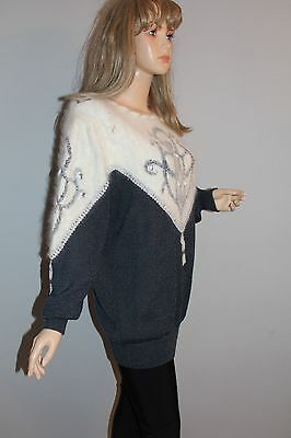 80er 80s Vintage Strick PULLI Pullover Knit Jumper Sweater ANGORA Wolle true VTG