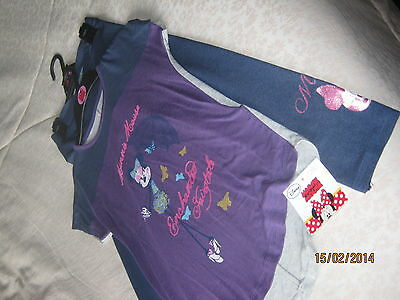 Rrp£18 Disney M&s Minnie Mouse T Shirt Top Jeggnings Leggings Age 9 10 Purple