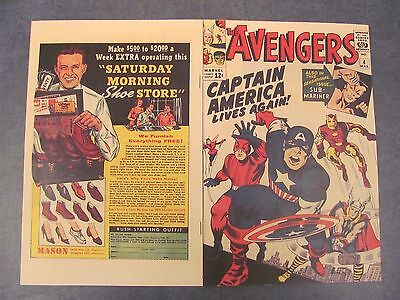 Facsimile reprint covers only to THE AVENGERS #4