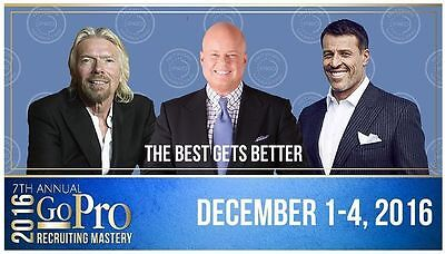 Eric Worre Go Pro Recruiting Mastery Event Las Vegas x 2 Ticket 1-4 Dec 2016