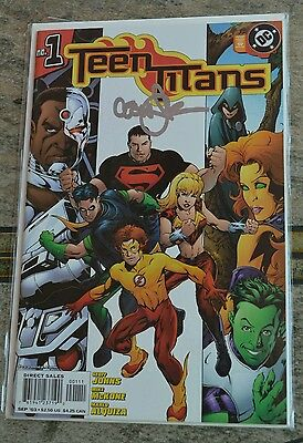 Autographed Signed Auto TEEN TITANS #1 DC COMIC 2003 3rd series