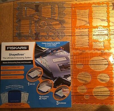 New Fiskars Shapeboss Ultimate Embossing System plus 3 Shape Templates
