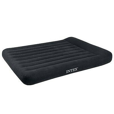 Intex Pillow Rest Classic Airbed with Built-in Pillow and Electric Pump Full