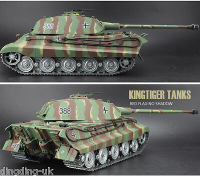 Heng Long King Tiger Radio Remote Control Rc Tank  Porsche Turret  -- Platinum