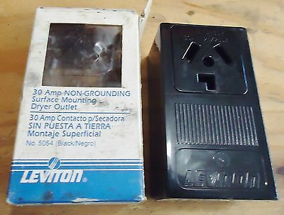 New Leviton 30 Amp Non Grounding Surface Mounting Dryer Outlet No. 5054(Black)