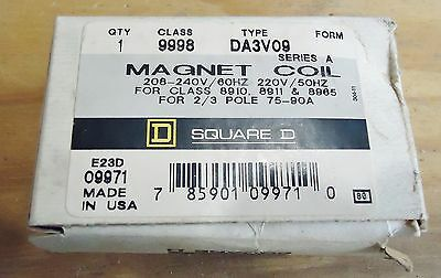 New Square D Magnet Coil Type: Da3V09, Series A, Class 9998.