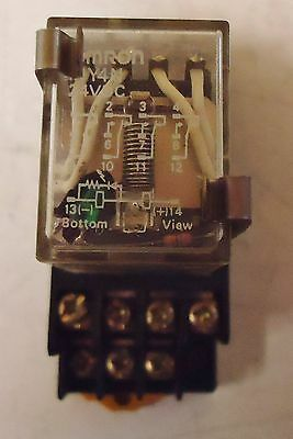 Omron My4N 24Vdc Relay,  Comes With Rj Max. 5A250V 21X1Yk Base