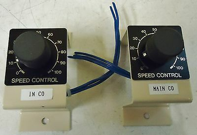 2 SPEED CONTROL UNITS RV24YN20S OhM B200 RESISTANCE 6mm SHAFT WIEREWOUND POTENTI