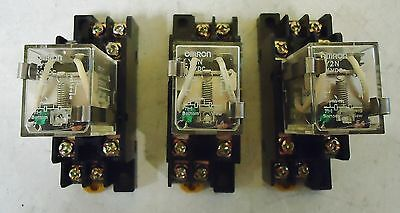 3 Omron Ly2N Cube Relays, Comes With The Base