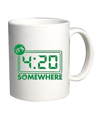 Tazza 11oz FUN0039 03 02 2014 Its 420 Somewhere T SHIRT det