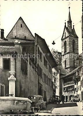 12595576 Basel BS Petersgasse mit Peterskirche Basel
