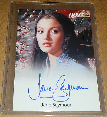 007 Rittenhouse James Bond Archives JANE SEYMOUR autograph as Solitaire RARE SSP