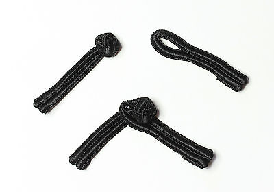 5 Pairs Frog Fasteners Closure Button Knots Colour : Black #S21-1