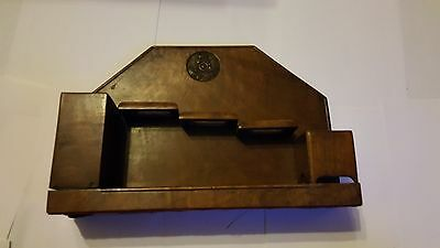 Early 20th Century Royal Artillery Carved Badge Flame Mahogany Pipe Rack