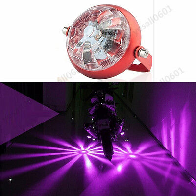 LED Projector Lens Under Tail Laser Light  Purple Motorcycle Strobe Bright