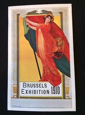 Ad Card: 1910 Universal & International Exhibition BRUSSELS Holland America Line