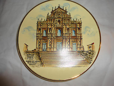 "Ruins of st. pauls church macau 7"" plate"