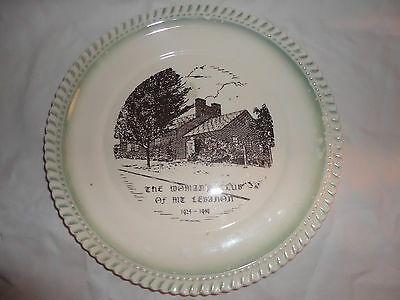 "Vtg womans club of mt. lebanon 1924-1949 9"" plate kendall ceramics Fairchance pa"