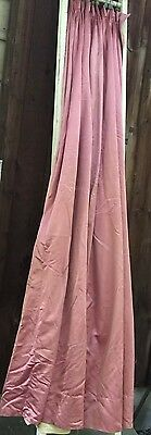 Vintage Antique dusty rose long curtains lined Drapes Rare!