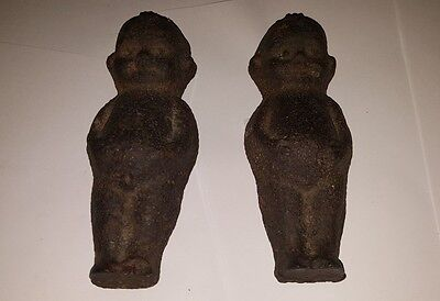 Two Victorian Baby Cast Iron Doorstops