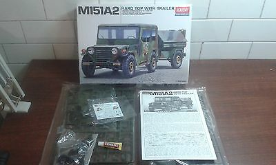 Kit 1/35 Academy M151A2 Hard Top With Trailer