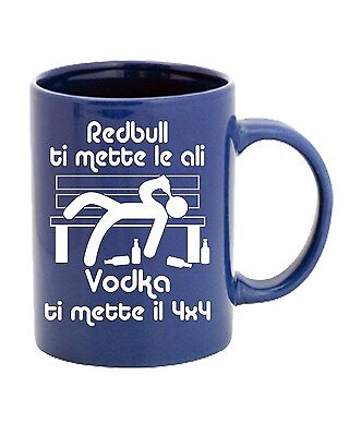 Tazza 11oz T0476 redbull ti mette le ali vodka ti mette il 4x4 fun cool geek